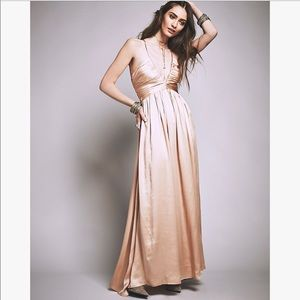 Free People Silk Gown